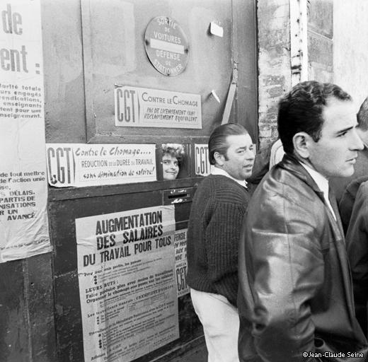 Mai 68 - banlieue de paris - usine occupee
