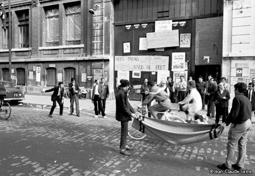 Mai 68 - Clichy - usine Citroen