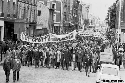 Mai 68 - Gennevilliers - manifestation usine Chausson