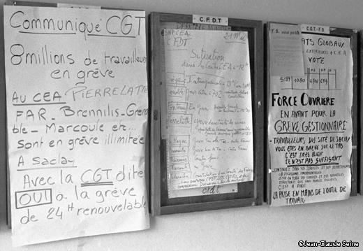 Mai 68 - Paris - energie atomique C.E.A.
