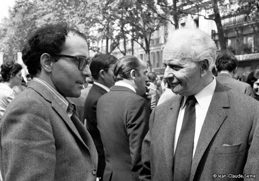 Mai 68 - Paris - Godard et Aragon